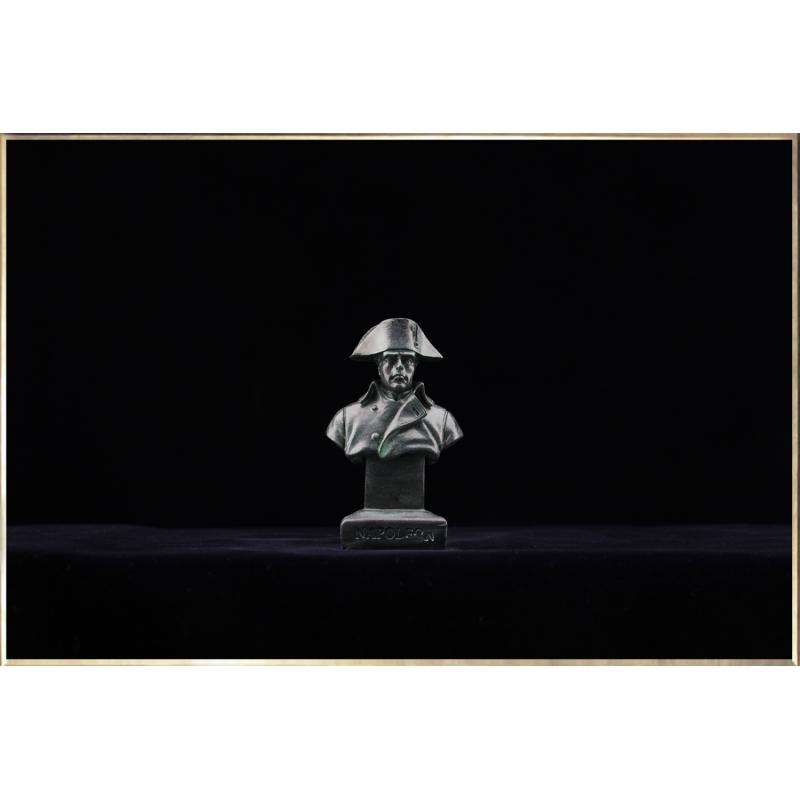 Buste Napoléon en tenue de Chasseur à Cheval de la Garde (façon bronze)