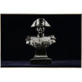 Buste Napoléon en tenue de Chasseur à Cheval de la Garde (façon bronze foncé)