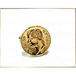 Napoleon gold plated cufflinks
