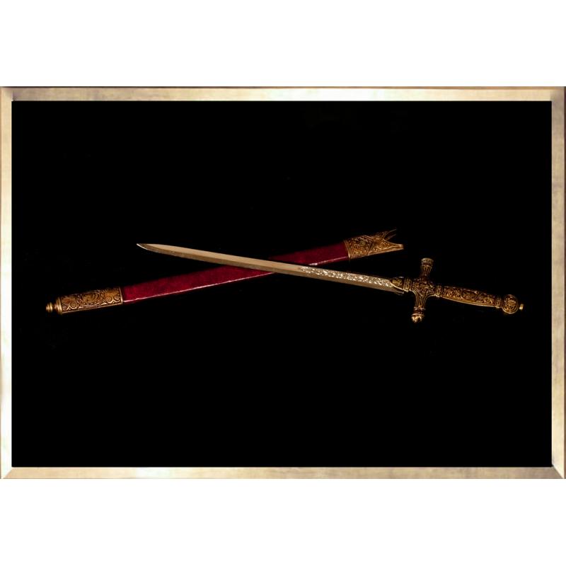 """Ouvre Lettre """"Dague du Sacre avec Fourreau"""""""