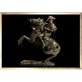 Napoléon à Cheval (façon bronze vert)