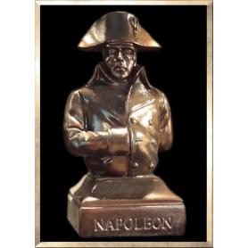 Buste Napoléon en Campagne (façon bronze foncé)